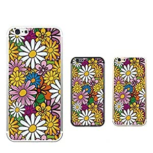 Customizable Hamee Original Designer Case from Japan Clear Protective Plastic Hard Cover for iPhone 5s / 5 (Floral Design / Blooming Daisy Flowers)