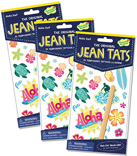 Peaceable Kingdom Jean Tats 'Aloha Surf' Temporary Tattoos for Fabric - 3 Pack