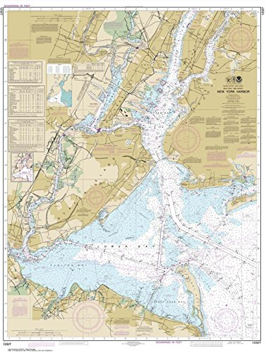 NOAA Chart 12327: New York Harbor, 34.9 X 46.3, TRADITIONAL PAPER (New York Harbor compare prices)