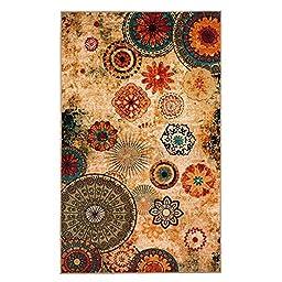 New Medallion Multi colored Area Rug 5x8,Carpet,Soft Rug,Living Room,Dining room, Foyer
