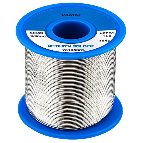 Read About Vastar 454G Activity Wire Solder 60/40 (60% Tin, 40% Lead), 0.8mm Diameter (0.031),1LB