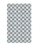 Huella deco Alfombra Bañada en Vinilo (Azul/Multicolor)