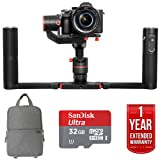 Feiyutech a1000 3-Axis Handheld Gimbal Kit for DSLR/Mirrorless Camera SLR GO PACK With Fitted SLR Backpack, 32GB Sandisk Ultra Card and One Year Warranty Extension
