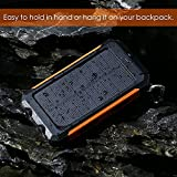 OJA-Portable-Solar-Charger-Panels10000mAh-Dual-USB-Port-Sun-Power-Bank-Battery-Pack-with-2-LED-Light-Carabiner-Compass-for-Phones