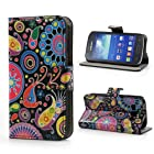 Clutch Style Cell Phone Purse Wallet Color Pattern Leather Wallet Samsung Galaxy Ace 3 S7275 S7270 S7272 Case Cover