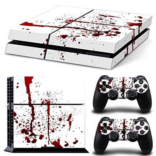 DOTBUY PS4 Pelli Playstation 4 Vinile Adesivi Skin Sticker Giochi PS4 Sistema + Due Decalcomanie del Dualshock Controller (Blood)