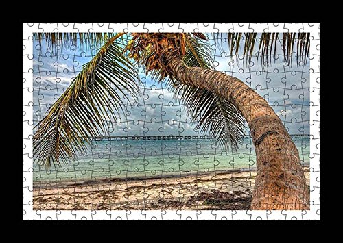 puzzle-style-vormontiert-wand-druck-von-palm-tree-on-a-sandy-beach-by-lisa-loft