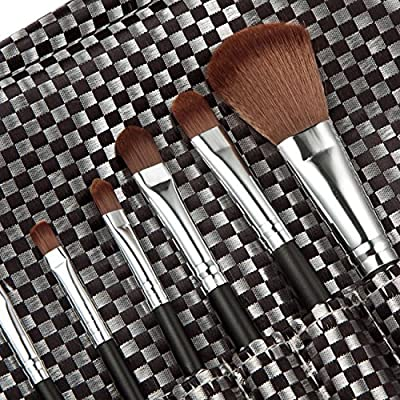 Tmalltide 10pcs Premium Synthetic Kabuki Makeup Brush Set Cosmetics Foundation Blending Blush Eyeliner Face Powder Brush Makeup Brush Kit 3 colors