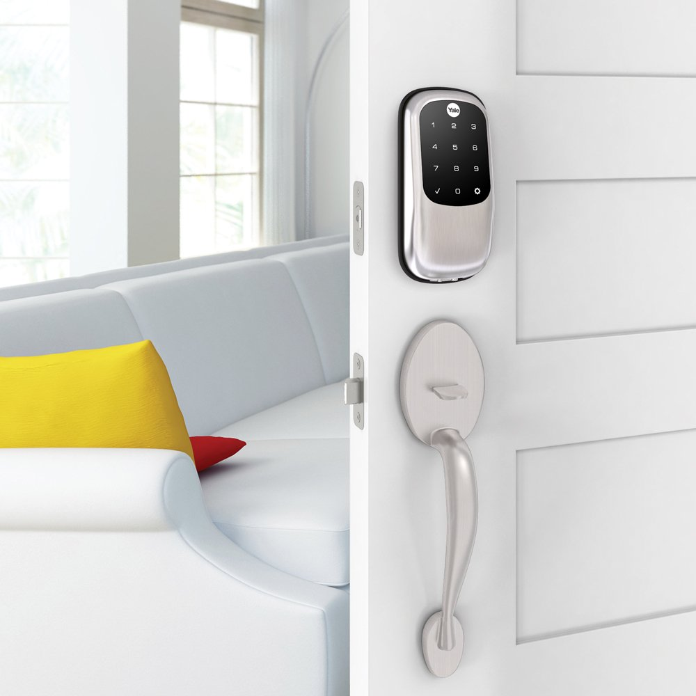 Yale Assure Lock with Bluetooth - Key Free Touchscreen in Satin Nickel - Your Phone Is Your Key