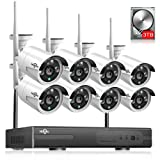 3TB HDD Pre-Install 8 Channel HD 1080P Wireless IP Camera System/IP Security Camera System 8Pcs 2.0 Megapixel 1080P Wireless IR Bullet Camera,Indoor/Outdoor,WiFi 8CH Home Security System HisEEu (Color: 8pcs 1080P Cams+8CH 1080P NVR(3TB HDD))