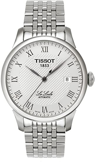 Tissot Men's T41148333 Le Locle Silver Textured Dial Watch