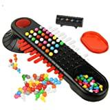 Mastermind Game, Sacow Mastermind Code Cracking Game Bead Machine Plans Desktop Family Game (Color: Multicolor, Tamaño: 26.5cm*26.5cm*8.5cm/10.5in*10.5in*3.35in)
