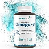 Omega 3 Fischöl [ 2000mg ] von Aava Labs -