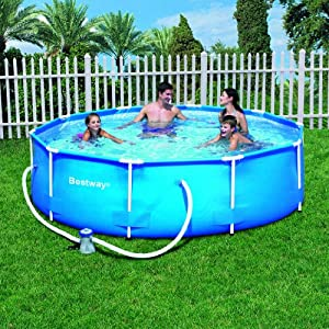 Bestway 10 foot by 30 inch steel pro round for 30 ft garden pool