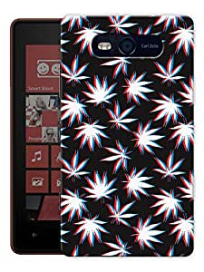 """Humor Gang Grass Trippy Pattern Printed Designer Mobile Back Cover For """"Nokia Lumia 820"""" (3D, Matte, Premium Quality Snap On Case)"""