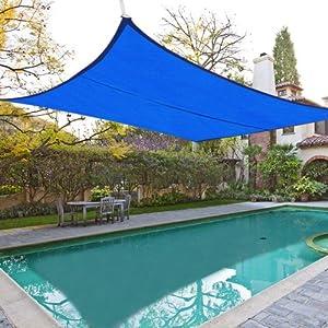 Amazon Com 18x18 Blue Square Sun Shade Sail Canopy Cover