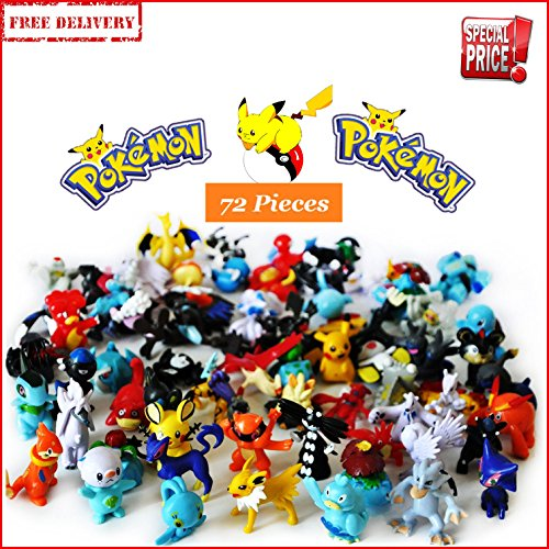 Pikachu Pokemon Monster Action Figures Lot 72 pcs Mini Pokémon Toys 2-3 cm Gift