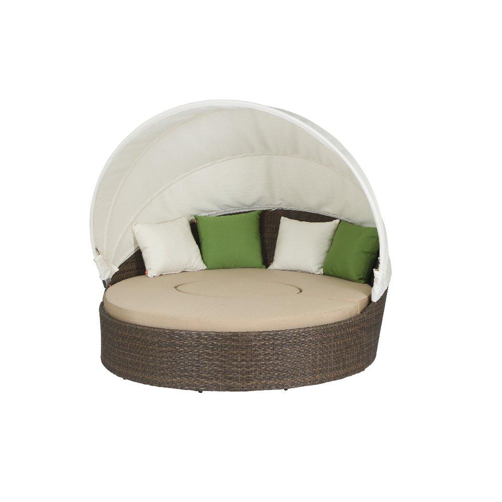 Siena Garden 104786 Lounge-Set Oase, cappuccino Sitzkissen in beige, L 155B 185 xH 53cm