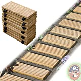 Rollweg Holz 25x250 cm Gartentritte Holz-Tritte, Holz-Fliesen f�r den Weg im Garten von Gartenpirat�