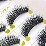 NEW 5 Pairs Natural Cross Thick Beauty False Eyelashes For eye makeup