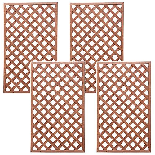 アイリスオーヤマ ラティス W-915 ブラウン 幅90cm×高さ150cm 4枚組セット