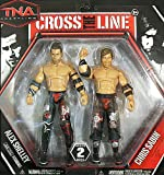 MOTOR CITY MACHINE GUNS (CHRIS SABIN & ALEX SHELLEY) - CROSS THE LINE 2-PACKS 2 TNA TOY WRESTLING ACTION FIGURES
