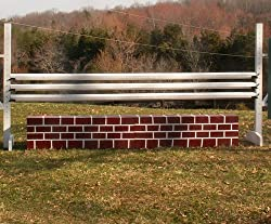 Brick Pattern Wall Wood Horse Jumps Set/2 10ft