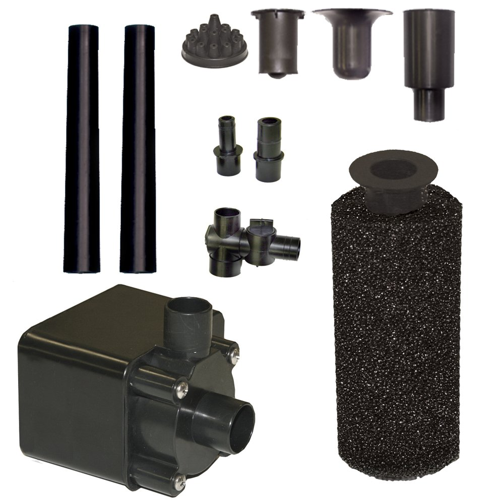 Beckett corporation pond pump kit with prefilter and for Submersible pond pump and filter