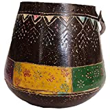Jodhpur Summers Iron Hanging Planter (7 X 7 X 10 Inches)