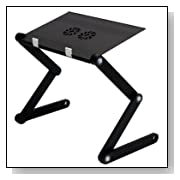 FURINNO Hidup Adjustable Cooler Fan Notebook Laptop Table
