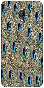 Snoogg Peacock Feathers Designer Protective Back Case Cover For Micromax Canvas Spark Q380