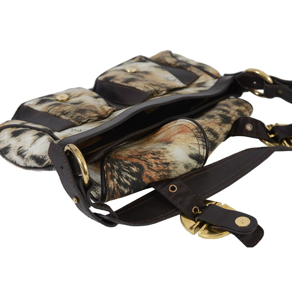 Just Cavalli Leather Handbag Hobo Bag
