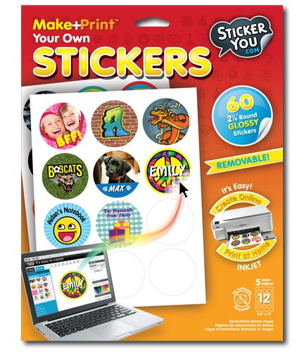 "StickerYou Make+Print Round 2.25"" Glossy Stickers (Pack of 60 stickers) - 1"