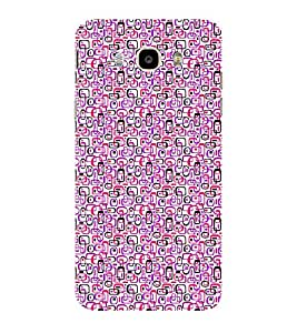 ifasho Colour Full Squre Pattern Back Case Cover for Samsung Galaxy On8