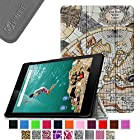 Fintie Google Nexus 9 Case - Ultra Slim Lightweight Cover [SmartShell Series] with Auto Sleep / Wake Feature for Google Nexus 9 Tablet (8.9-Inch 2014 Model) by HTC, Map