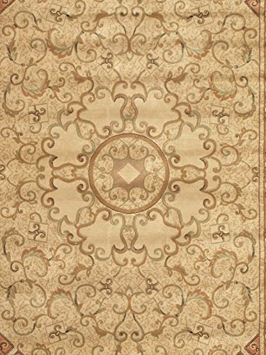 EcarpetGallery 60133 Persian Silk Beige Traditional Rug, 3'3