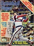 Ron Kittle Autographed W/ 83 AL ROY October 1983 Baseball Digest White Sox SGC