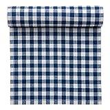 10 Rollen MYdrap Baumwoll Tischsets kariert, 46 x 32 cm, blau, 12 Stück pro Rolle