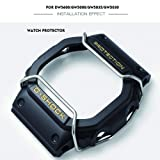 Supachis Watch Screen Protectors, Wire Watch Guard Protector Watch Bumper for DW5600 / GW5000 / GW5030 / GW5035 100% Metal Stainless Steel Bull Bar, Silver (Color: silver)