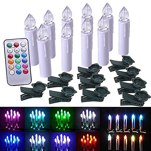 value-makers-led-senza-fiamma-elettroniche-taper-avorio-candele-con-le-clip-remote-e-removibile-a-pi