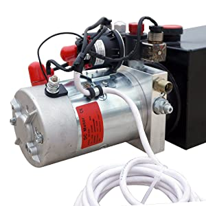Electric Hydraulic Pump Unit Metal Reservoir for Dump Trailer
