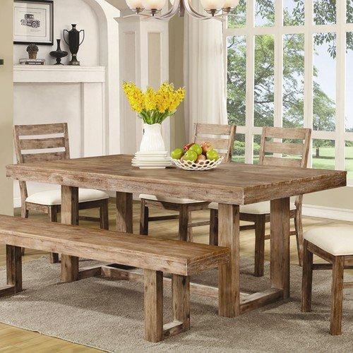 Coaster 105541 Elmwood Rustic 77.75 x 39 x 30-Inch U Base Dining Table