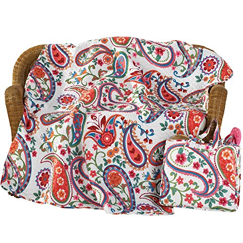 Colorful Paisley and Floral Picnic Blanket (Bbq Heat Blanket compare prices)