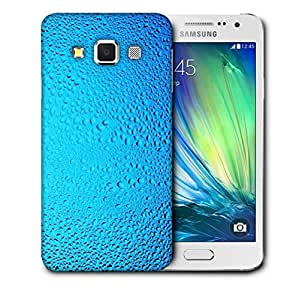 Snoogg Blue Water Drops Printed Protective Phone Back Case Cover For Samsung Galaxy A3