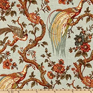 54'' Wide Waverly Olana Bayleaf Fabric By The Yard