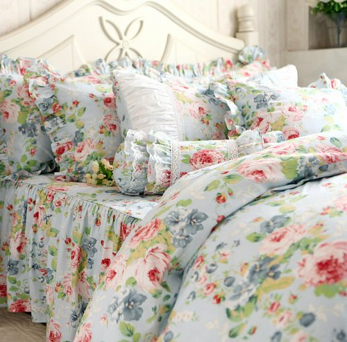 Dada bedding french country cotton 3 piece quilt set
