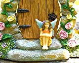 Miniature Fairy Garden Fay (the Super Cute, hand painted sitting garden fairy) by Twig & Flower
