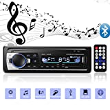 Aigoss Bluetooth Car Stereo, 4x60W Car Audio FM Radio, MP3 Player USB/SD/AUX Hands Free Calling with Wireless Remote Control (Color: Black)