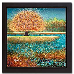 Jewel River by Melissa Graves-Brown Premium Gallery-Wrapped Canvas Giclee with Black Floater Framing (Ready-to-Hang)