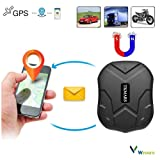 TKSTAR GPS Tracker Car TKMARS GPS Tracker with Strong Magnet GPS Locator 3 Months Standby in Real Time GPS/GPRS/GSM Tracker Anti-Theft Device for Vehicle Cars Motorcycle Truck GPS Tracking Device